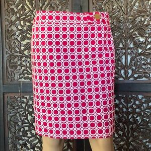 Ann Taylor SkirtSize4 Red PolkaDot Straight Pencil